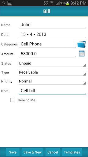 Bill Reminder Expense Tracker|玩商業App免費|玩APPs