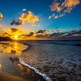 Overwhelming by Assi Dvilanski - Landscapes Beaches ( sunset, palmahim, beach, israel )