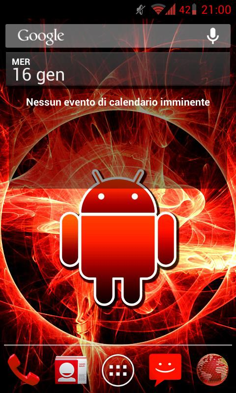 CM9/CM10 Theme DeepRed - screenshot