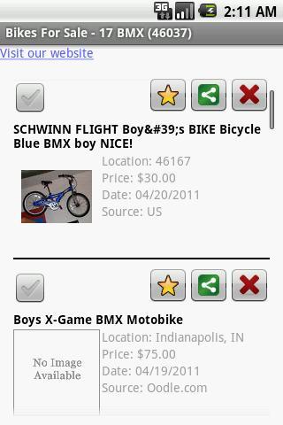 Bikes For Sale - screenshot