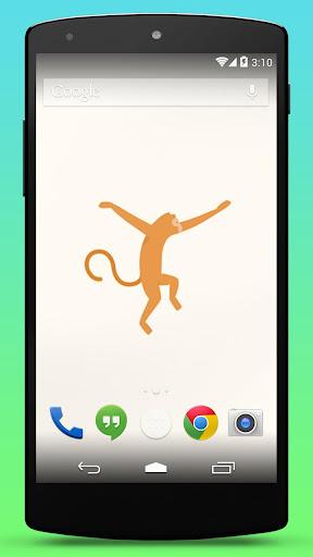 Monkey Swinging Live Wallpaper