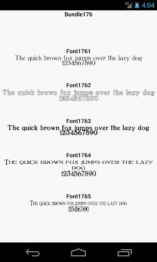 Fonts for FlipFont 176