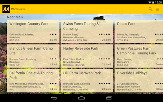 Screenshot of AA Caravan & Camping Guide