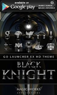 玩免費個人化APP|下載GO Locker black knight app不用錢|硬是要APP