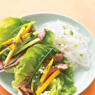 Asian Beef Lettuce Wraps.