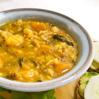 Crockpot Mung Bean Veggie Rice Soup