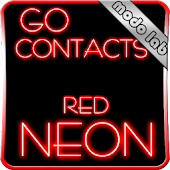 Red Neon Go Contact theme