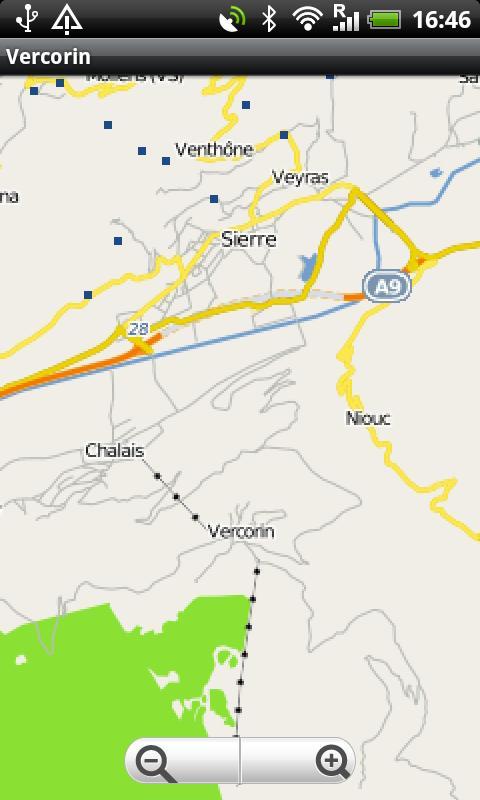 Vercorin Street Map- screenshot