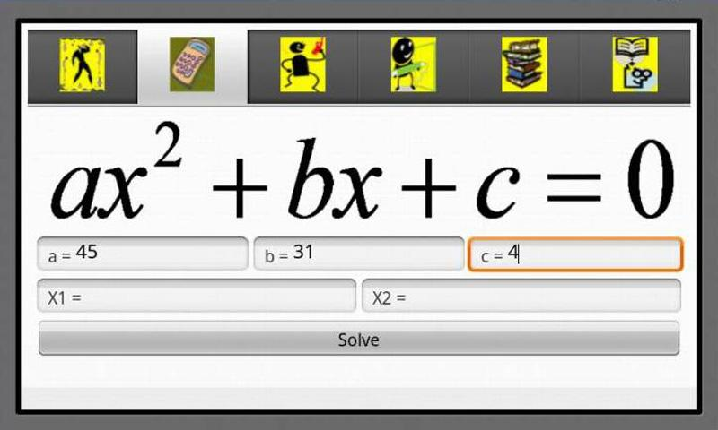 Algebra Helper 1 - screenshot