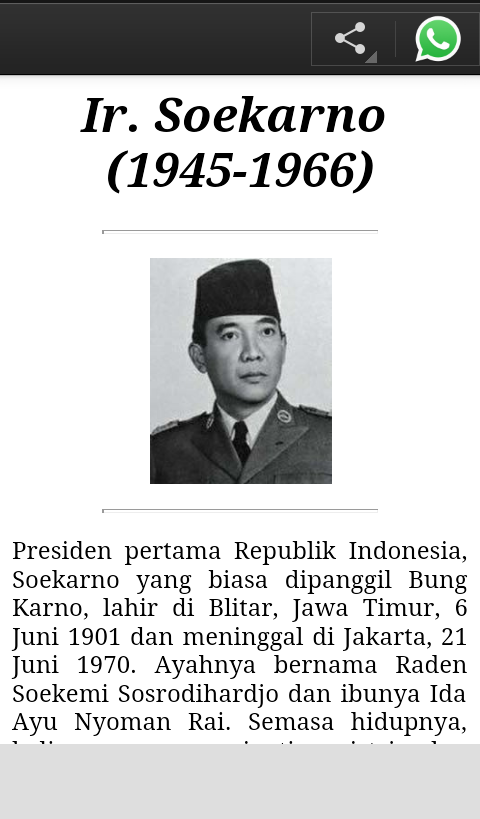 Biografi Presiden Indonesia - Android Apps on Google Play