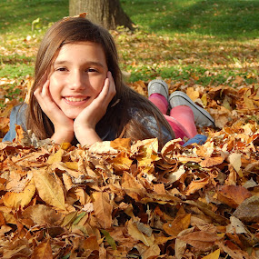 Autumn by Irena Čučković - Babies & Children Child Portraits ( child, girl, fall colors, autumn leaves, colorful, autumn, colors, fall, happiness, autumn colors, fun, childhood )