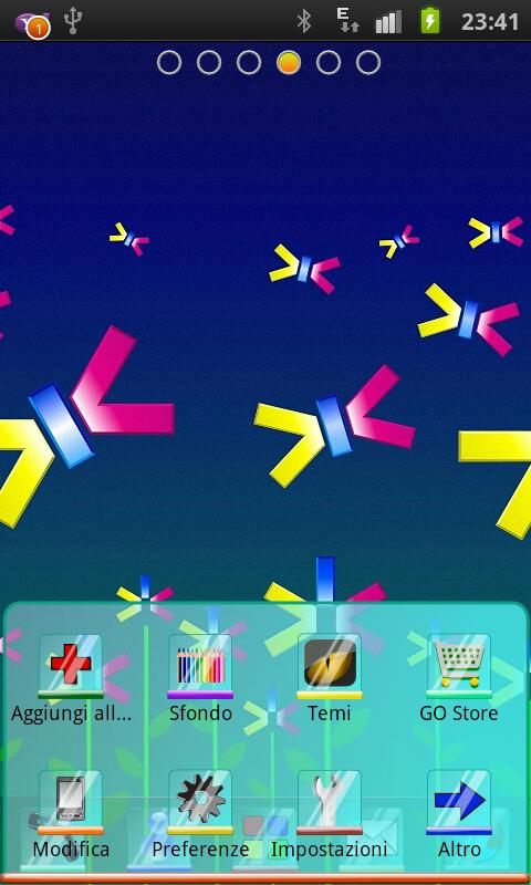 Abstract Flowers Theme Go Dev - screenshot