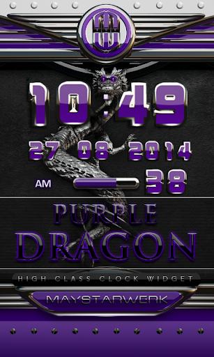 dragon digital clock purple