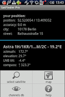 Screenshot of SatFinder pro