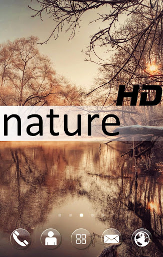 HD Natural Go Launcher Theme
