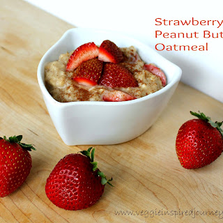 Strawberry Peanut Butter Oatmeal.