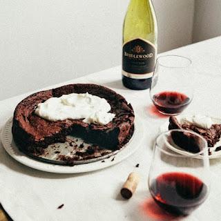 Flourless Chocolate And Red Wine Swedish Cake.