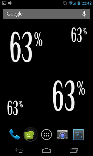 Percentage Battery widget V2