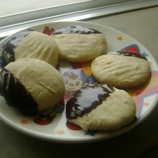Cornstarch and Condensed Milk Cookies in a Chocolate Bath.