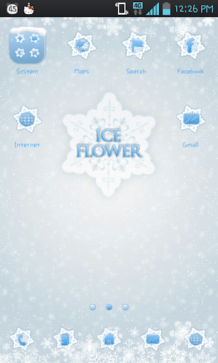 Ice flower go launcher theme