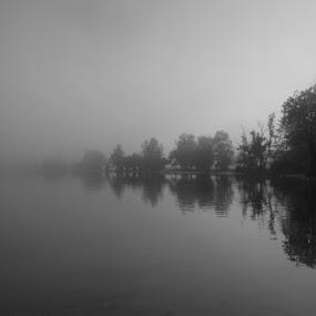 Fog by Donat Piber - Landscapes Weather ( fog, lake )