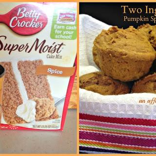 Two Ingredient Pumpkin Spice Muffins.