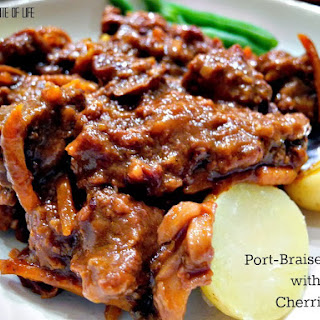 Port Braised Beef With Cherries