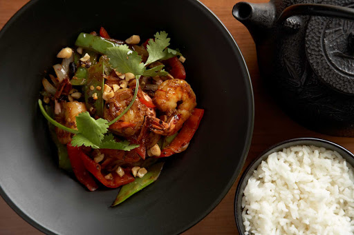 Silk_Harvest_kung_pao_shrimp - Kung pao shrimp at Silk Harvest on your Celebrity Cruises sailing.