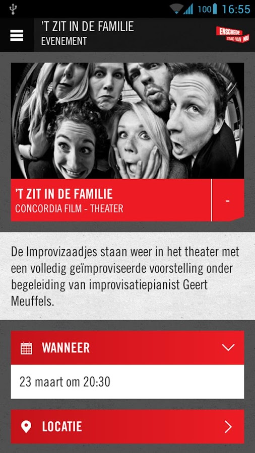 Enschede App- screenshot