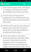 Screenshot of Holy Bible