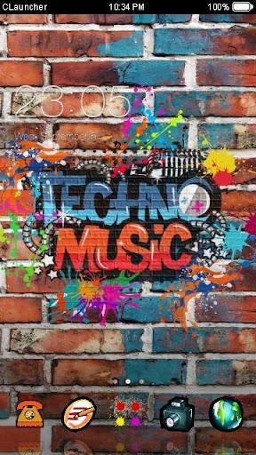 TECHNO MUSIC C LAUNCHER 테마