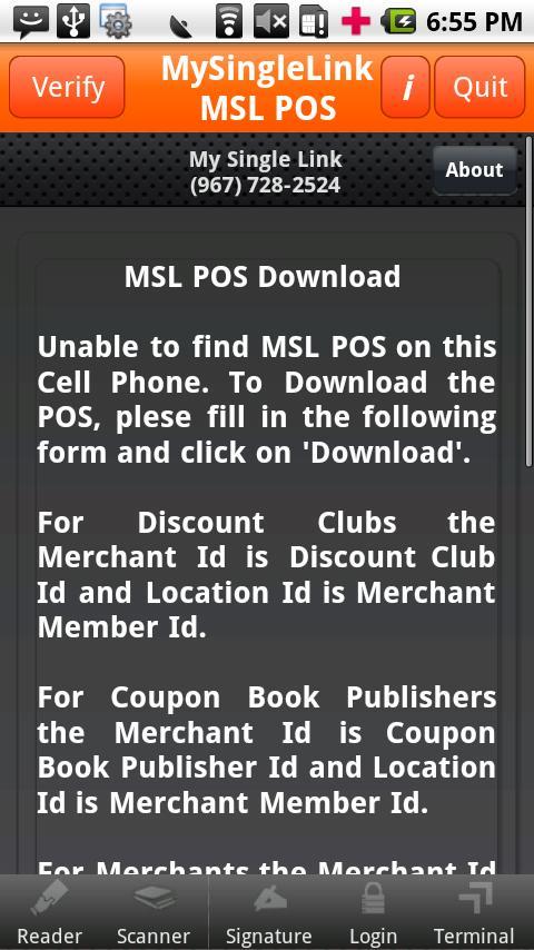MSL POS- screenshot