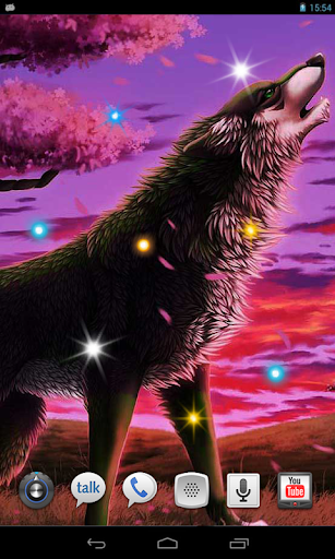 Wolves Night live wallpaper