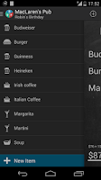 Screenshot of Restaurant Expense Manager