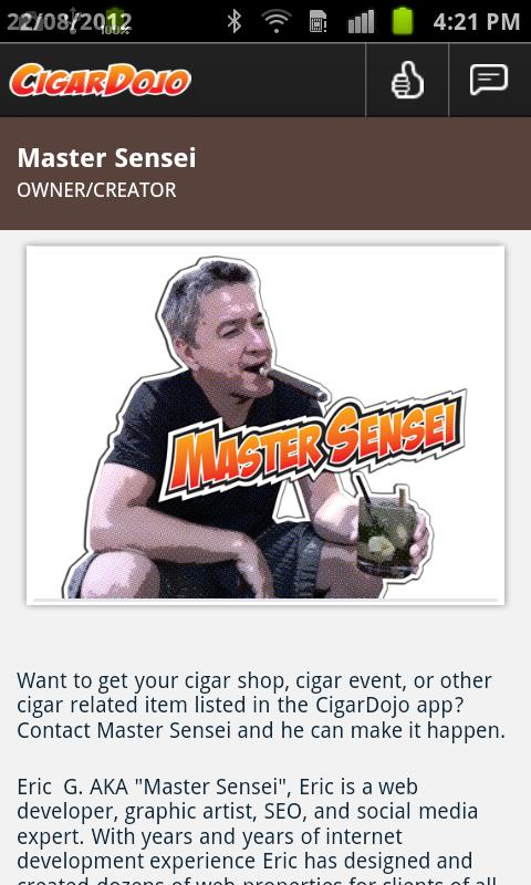 CigarDojo the social cigar app - screenshot