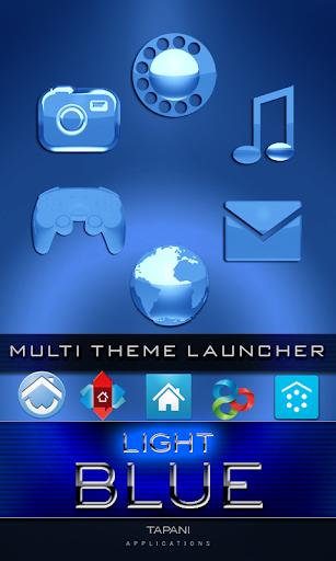 LIGHT BLUE icons go adw apex