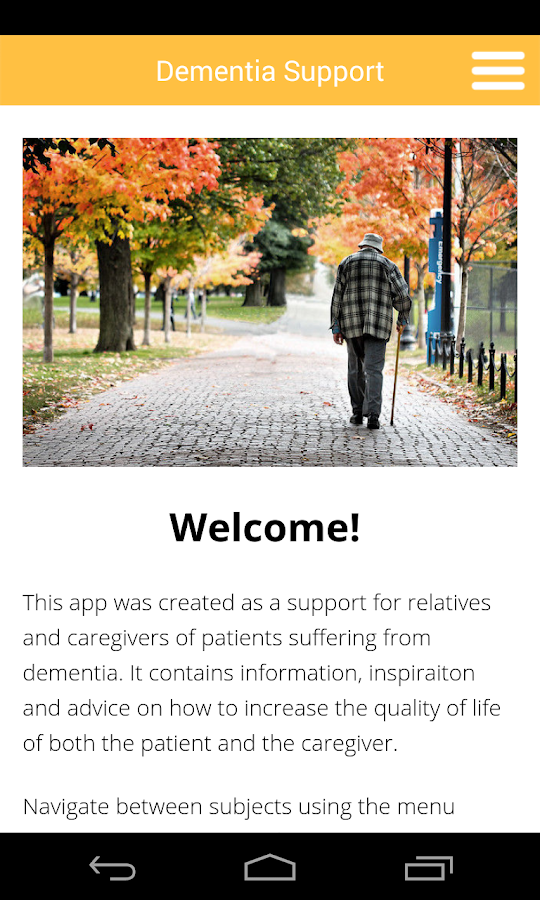 Dementia Support- screenshot