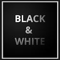 Black&White GO Launcher Theme icon