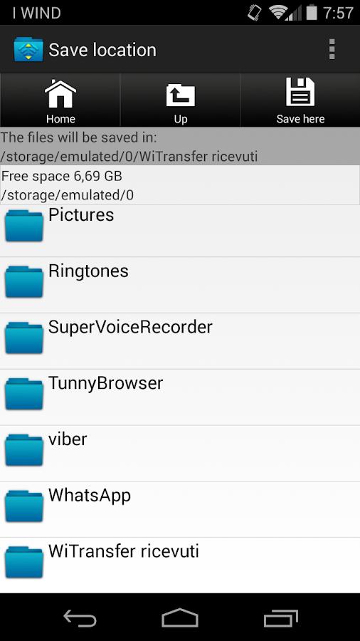 Wifi File Transfer - screenshot