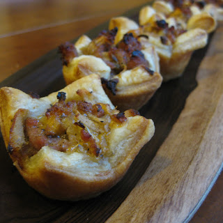 Sausage Puffs with Apple, Cheddar and Sage.