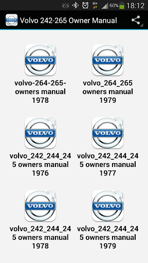 Volvo 242-265 Owner Manual