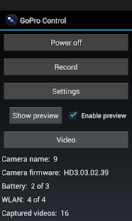 Camera Controller for GoPro- screenshot thumbnail