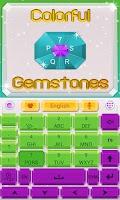 Screenshot of Gemstone GO Keyboard Theme