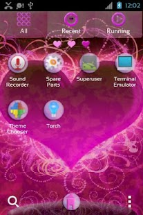 GO Launcher EX Themes Hearts - screenshot thumbnail