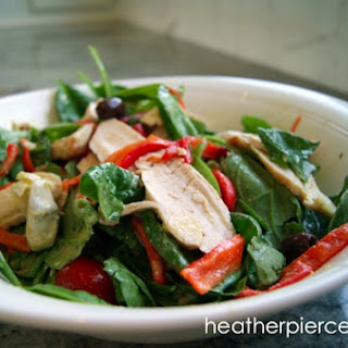 Mediterranean Salad with Broiled Chicken