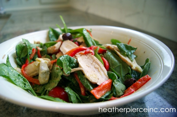 Mediterranean Salad with Broiled Chicken Recipe