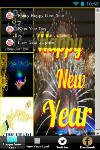 happy new year card android app screenshot