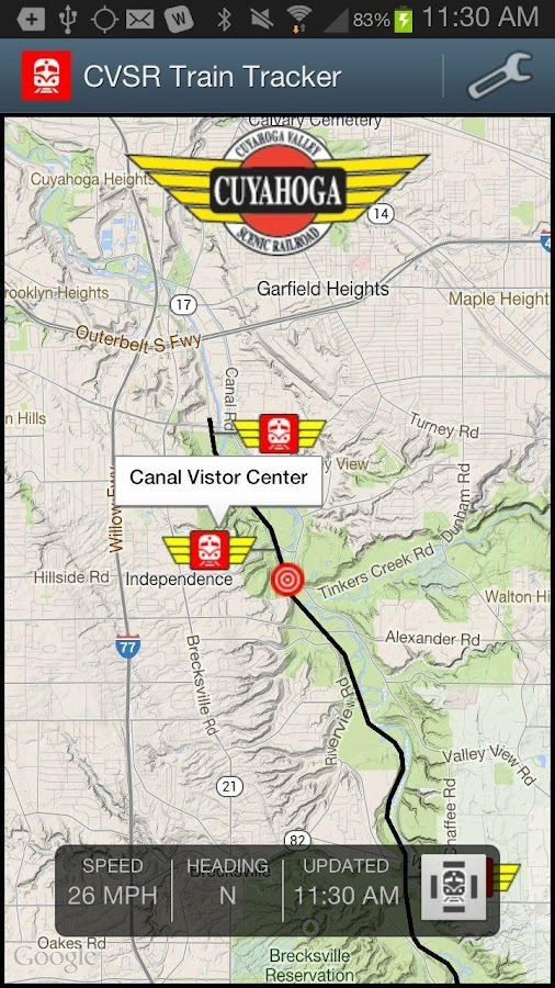 Cvsr Train Tracker Android Apps On Google Play
