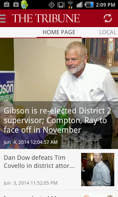 San Luis Obispo Tribune news- screenshot
