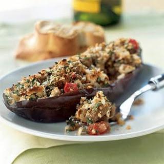 Greek-Style Stuffed Eggplant.